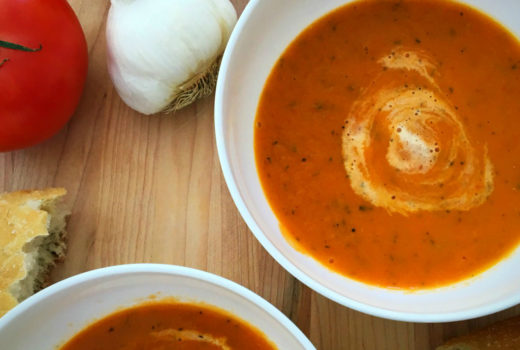 The BEST EVER roasted tomato and basil soup recipe
