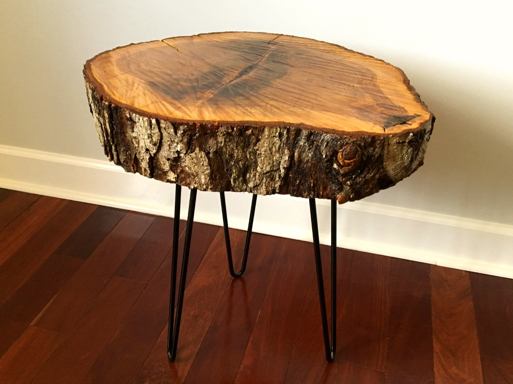 How to create a DIY tree slice table
