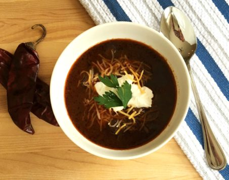 Fabulous red beef chili