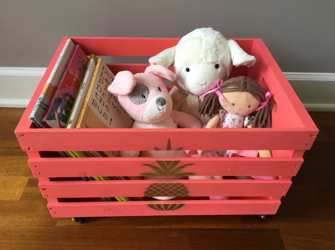 Easy peasy DIY toy storage