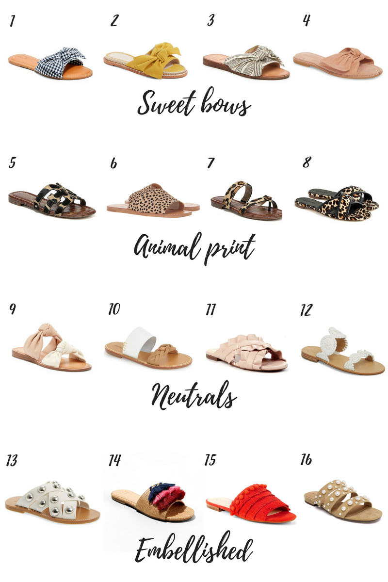 best slide sandals for spring and summer
