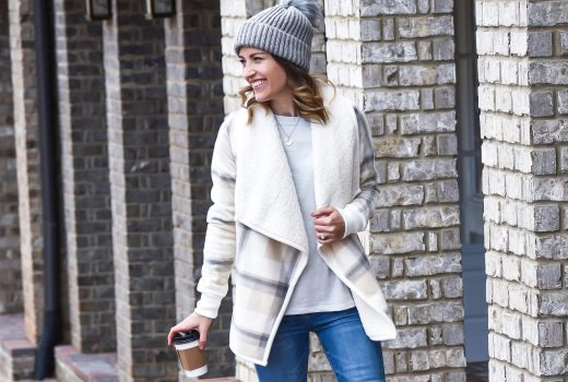 Staying Warm with a Sherpa Cardigan